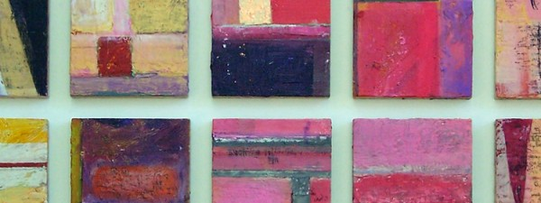 encaustic with mixed media on wood